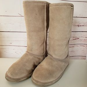 Ladies Bearpaw fur lined calf winter boots sz 9